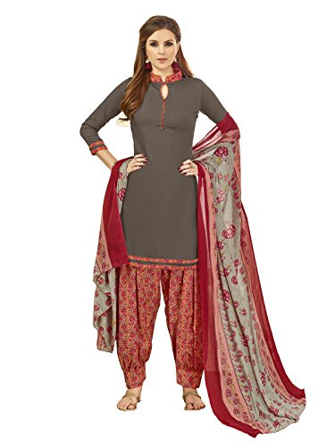 Kanchnar Women's Cotton Printed Salwar Suit Material with Dupatta