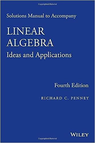 Solutions Manual to Accompany Linear Algebra: Ideas and