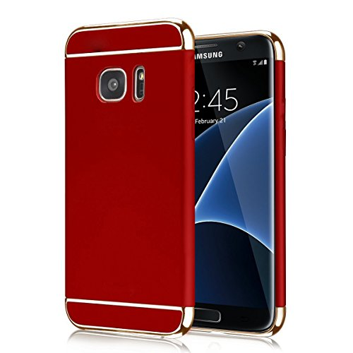 """ATOOZ Ultra Thin Slim Shockproof Electroplate Frame Hard Protective Case Cover for Samsung Galaxy S7 Edge 5.5""""(Red)"""
