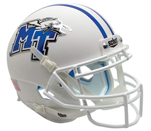 - Schutt NCAA Middle Tennessee State Blue Raiders Mini Authentic XP Football Helmet, Alt. 3