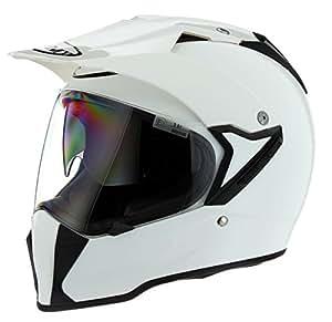 Suomy Solid Mx Tourer Touring Motorcycle Helmet - Plain White / Medium
