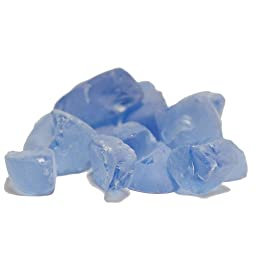 CYS Vase Filler Sea Glass Table Scatters, Frosted Blue, lbs per bag (24 bags) - 1 lb per bag
