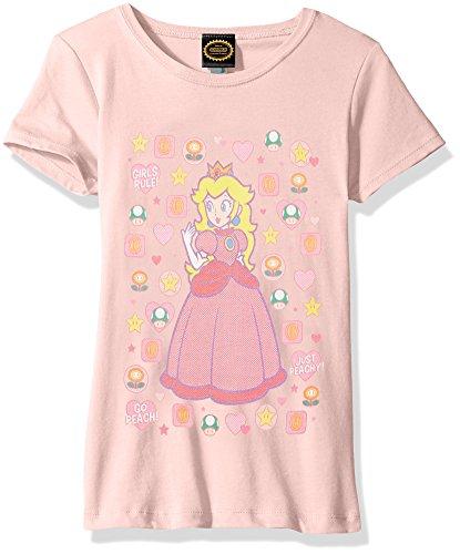 Nintendo Little Girls Peachtone Graphic T-shirt, Pink, XS