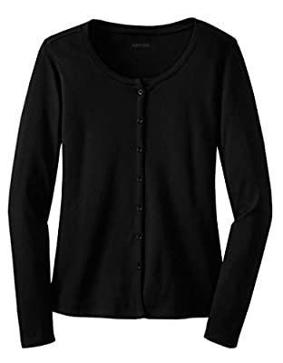 Ladies Soft and Cozy Silky Touch Interlock Cardigans in Sizes XS-4XL