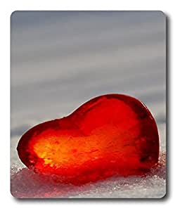 gel mat Red Heart Love PC Custom Mouse Pads / Mouse Mats Case Cover