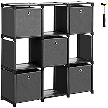 Amazon.com: SONGMICS Cube Storage, 6-Cube Bookcase, Ladder ...