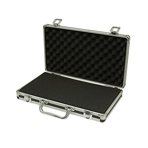 Aluminum Hard Carry Case (SRA Cases Aluminum Hard Case, Black, 13.6 x 8.1 x 2.6 Inches)
