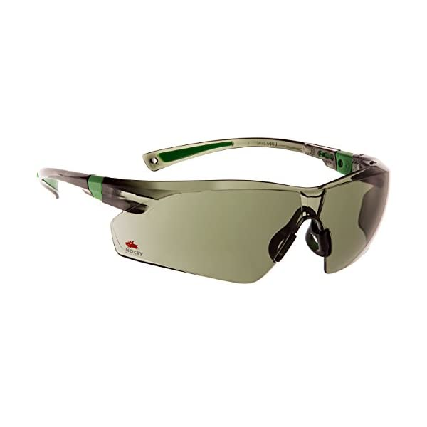 NoCry Work and Sports Safety Sunglasses with Green Tinted Scratch Resistant Wrap-Around Lenses and No-Slip Grips, UV 400… 1
