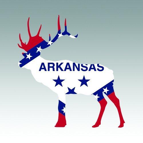 DIE CUT ARKANSAS SHAPE STATE FLAG STICKER LAPTOP STICKER TOOLBOX STICKER