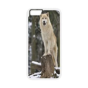 Customized Snow Wolf and Mountains Iphone6 Plus Case, Snow Wolf and Mountains DIY Case for iPhone 6 plus 5.5