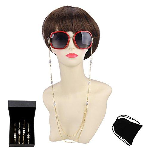 WeimanJewelry 2 Row Necklace Silver Sunglass Chain Eyeglass Chain for Women - K Sunglasses Style