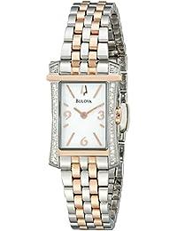 Women's 98R186 Analog Display Analog Quartz Two Tone Watch