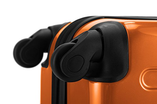 HAUPTSTADTKOFFER® 119 Liter Hartschalen Koffer · (75 x 52 x 32 cm) · Hochglanz · Zahlenschloss · ORANGE