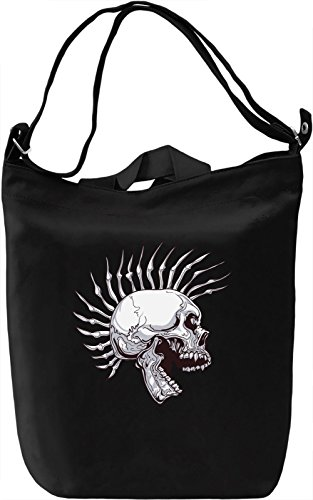 Punk skull Borsa Giornaliera Canvas Canvas Day Bag| 100% Premium Cotton Canvas| DTG Printing|