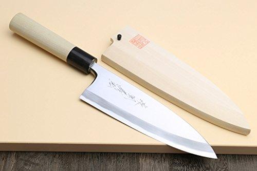 Yoshihiro High Carbon Shiroko Kasumi Deba Japanese Fillet Chef's Knife 6''(150mm) by Yoshihiro (Image #1)