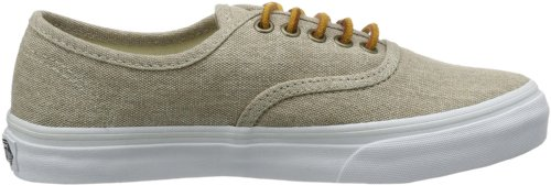 Vans Unisex Authentic Skate Shoe (Washed Canvas) Cream/True White GN2uMVgK