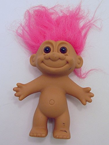 amazon com russ pink haired troll doll 4 5 tall with hair 6 tall