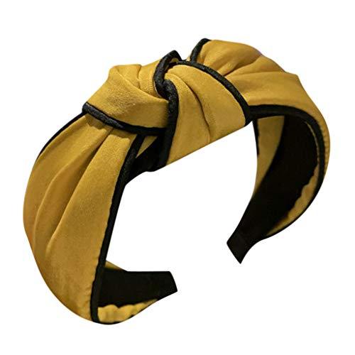 Benficial Women's Headband Fabric Hairband Head Wrap Hair Band Accessories 2019 Summer Yellow (Best Bss Hair 2019)