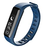 OLSUS Fitness Bracelet Pulsometer Blood Pressure Heart Rate Pedometer Wristband - Navy blue