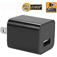 Motion Detection AC Wall Plug Adapter, 1080P HD USB Wall Charger Hidden Spy Wall Camera Nanny Spy Camera Adapter With 32GB Internal Memory