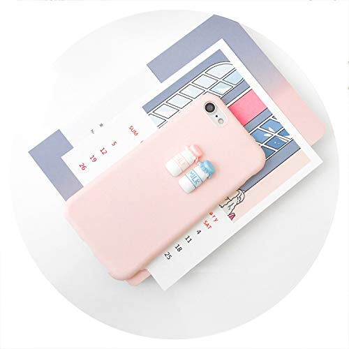 Case for iPhone 5 S 6 7 8 Plus X XR XS MAX 3D Coffee Milk Pink Cute Soft TPU Cover for Samsung Galaxy S6 S7 Edge S 8 9 Note 8,Milk with Pink,for iPhone Xs MAX