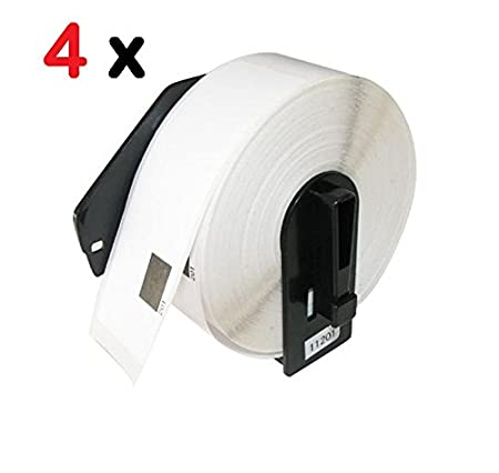 Eseller Direct® 2 Pack Brother DK-1201 DK 1201 Compatible Premium Quality BPA free White Wide 1-1/7 in x 3-1/2 in (29mm X 90mm) Shipping label Roll (400 Labels per Roll) with Cartridge/ Holder for Brother Label Printer QL-700 QL-500 QL 550 QL 570 QL PCFX A