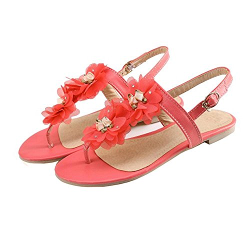 Coolcept Plano Mujer Toe Clip Red Sandalias rrZFq