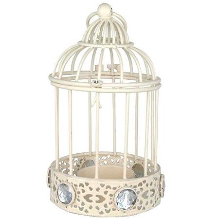 Portavelas de jaula de pájaros con diamantes: Amazon.es: Hogar