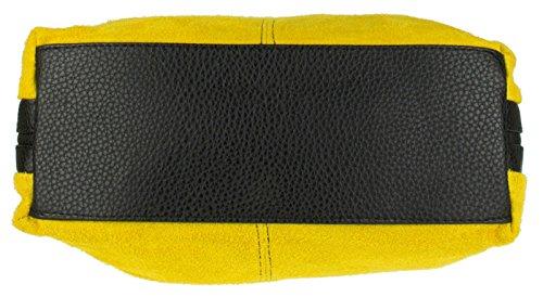 Craze London - Bolso de hombro niña Mujer amarillo