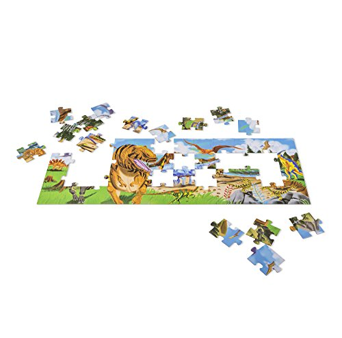 Melissa & Doug Land of Dinosaurs Floor Puzzle (48 pcs, 4 feet long)