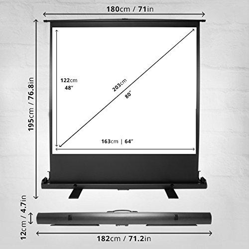 Duronic FPS100 //43 Pantalla de Proyecci/ón 100 con Pie de Apoyo para Proyector 4K Full HD 3D Formato 4:3 203 cm X 152 cm