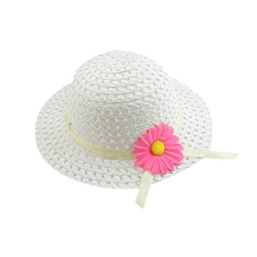 FUNNY365 Baby Straw Sun Hat Beach Cap With Handbag Dress up Hat Purse Set (Beige 2) ()