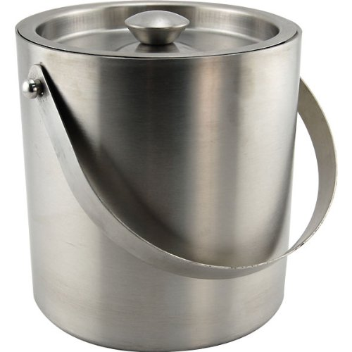 Behind The Bar Stainless Steel Double Walled Ice Bucket – 3 Quart