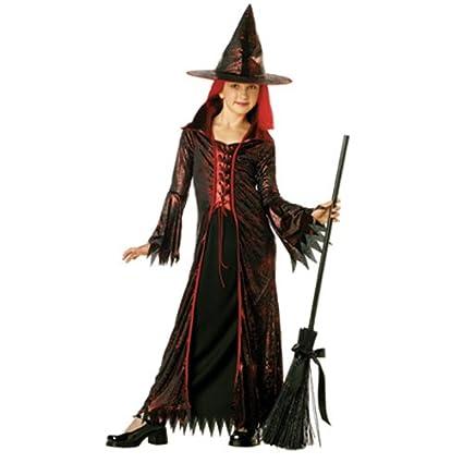 Amazon.com: Devil Disfraz De Bruja Niña – niño pequeño 6 – 8 ...