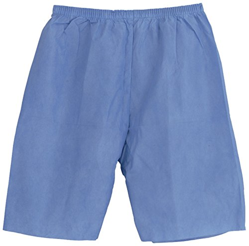 Medline NON27209XXL Disposable Exam Shorts, XX-Large, Blue (Pack of 30)