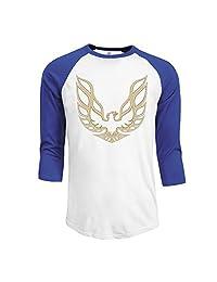 Men's Pontiac Firebird Logo GTA Trans Am 3/4 Sleeve Raglan T-Shirt