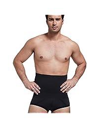 Panegy Men's Hi-Waist Body Slimmer Briefs Waist Trainer Tummy Control Shapewear