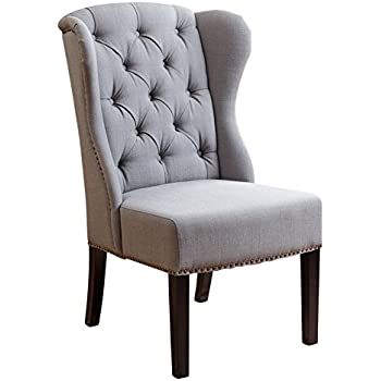 Amazoncom Abbyson Kyrra Tufted Velvet Wingback Dining Chair Navy