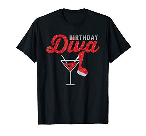 Diva Martini Glass - Birthday Diva T Shirt Martini Glass Stiletto Birthday Gift