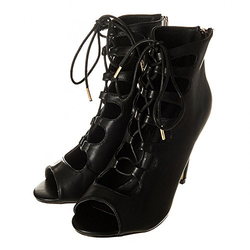 Mate Negro Zapatos Mujer Miss Tacón Diva Con n0BqWYRw