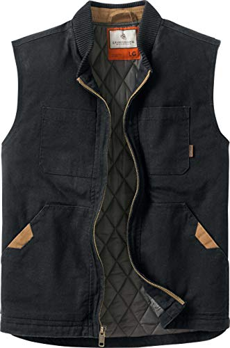 Legendary Whitetails Men's Canvas Cross Trail Vest Black Lar