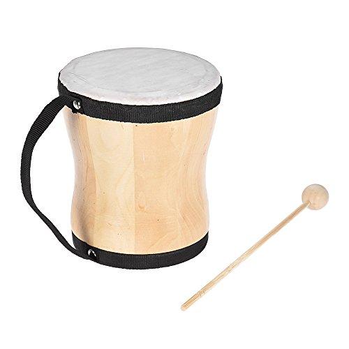 ammoon Tambour Bongo à Main en Bois Jouet Musical Instrument de Percussion avec Collerette pour le Carnaval Kids Children Party Club