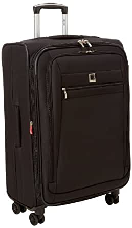 Delsey Luggage Helium Hyperlite 25 Inch Expandable Spinner Trolley, Black, One Size
