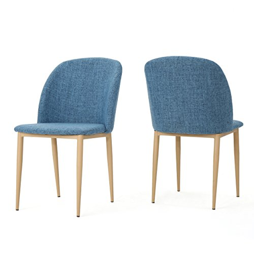 Cheap Christopher Knight Home 300931 Anneliese Fabric Dining Chairs (Set of 2), Muted Blue