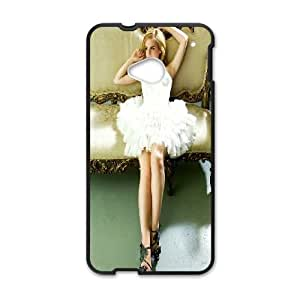 HTC One M7 Cell Phone Case Black Emma Watson In White Dress SUX_091325