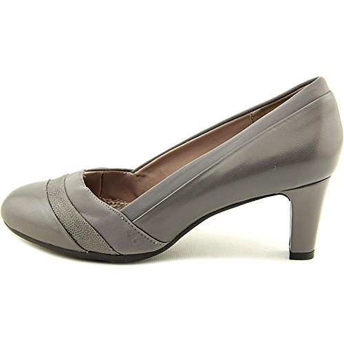Easy Spirit Womens Nareen Leather Cap Toe Classic Pumps Grey Multi Leather o1t5J5wu