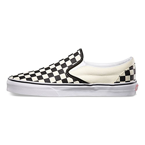 Off Unisex Slip Black on Adults' Canvas Vans Checker White Classic Trainers 8qUpwT