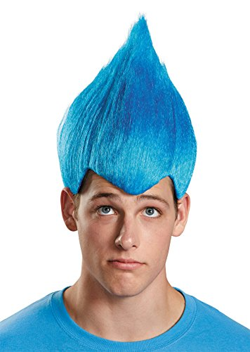 UHC Wacky Vibrant Comical Theme Party Wig Adult Halloween Costume Accessory (Blue)