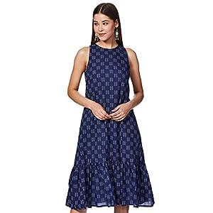 Amazon Brand – Myx Cotton a-line Dress