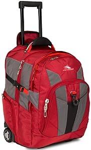 High Sierra XBT Wheeled Backpack, Carmine/Red Line/Black
